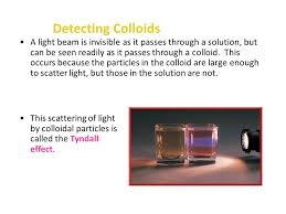 the scattering of light by colloids is called properties of matter part ii ppt video online download