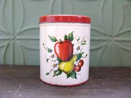 apple canisters for the kitchen vintage red canister decoware canister pear canister cherry
