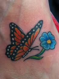breathe monarch butterfly on wrist