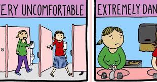 adorable comic mocks trans bathroom panic attn