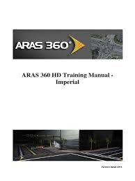 aras 360 training manual 2013 2 d computer graphics map