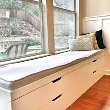 bay window seat bay window seat in kitchen decorated for