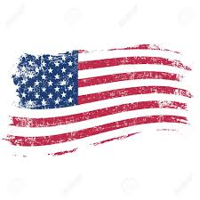 American Flag In Text Usa Flag In Grunge Style On A White Background Royalty Free