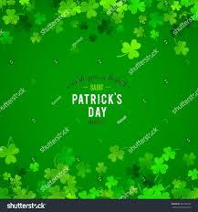 Shamrock Green St Patricks Day Background Vector Illustration Stock Vector