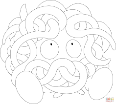 tangela pokemon coloring page free printable coloring pages