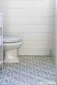 bathroom stencil ideas powder room makeover reveal transitional farmhouse style