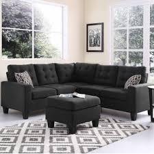 Black Sofa Sectional Black Sectional Sofas You U0027ll Love Wayfair