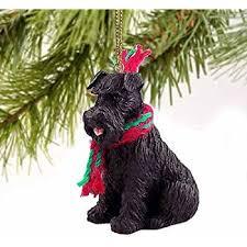 black schnauzer gingerbread house ornament