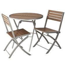 Threshold Chairs Threshold Bryant 3 Piece Faux Wood Patio Bistro Furniture Set