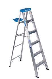 Fold Up Step Ladder by Shop Werner 8 Ft Aluminum 250 Lb Type I Step Ladder At Lowes Com