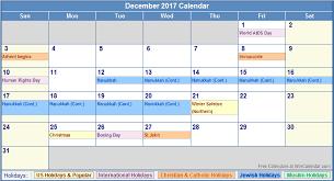 december 2017 calendar with holidays calendar 2017 printable