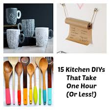 kitchen craft ideas easy kitchen diy one hour kitchen projects