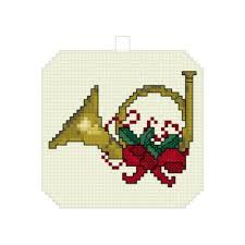 horn ornament cross stitch pattern ornaments