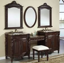 Oval Mirrors For Bathroom by Bathroom Exquisite Double Sink Vanity With Brown Cabinets Also