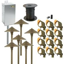 Led Landscape Lighting Transformer Volt Lighting Landscape Brass Lifetime Led Landscape Lighting Kit