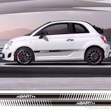 jdm panda sticker 2018 car styling abarth side skirt racing sticker stripe body
