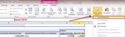 Excel 2010 Pivot Table Calculated Fields Clearify