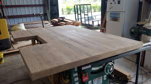 caribteak com teak butcher block countertop sanding teak butcherblock