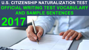 u s citizenship test 2017 official writing test vocabulary and