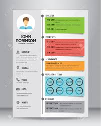 Resume Template Layout Resume Or Cv Template Layout Template In A4 Size Royalty Free