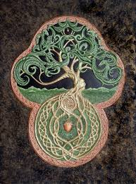 the celtic tree of cast paper large tree green arbor