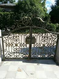 Custom Size Steel Exterior Doors Hench Luxury Wrought Iron Gate Hc Lg4 Custom Size Acceptable In
