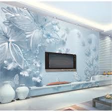 revetement mural chambre personnalisé toute taille moderne mur papier peint bleu clair