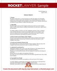 company email policy example image mag