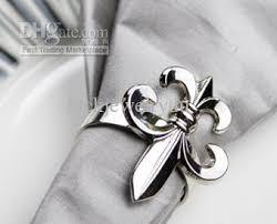 fleur de lis gifts fleur de lis napkin rings wedding gift napkin rings made by zinc