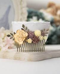 Rustic Shabby Chic Decor by Large Bridal Hair Comb Country Wedding Rustic Vintage Shabby Chic