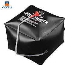 Portable Outdoor Shower Kit - aliexpress com buy aotu outdoor shower water bag portable 40l 10