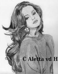 portrait of selena gomez by aletta15 on stars portraits 2