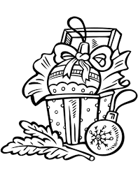 christmas ornaments coloring page free printable coloring pages