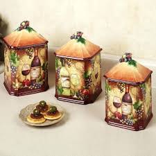 kitchen ceramic canister sets tuscan kitchen canisters the wine map grapes kitchen canister set is