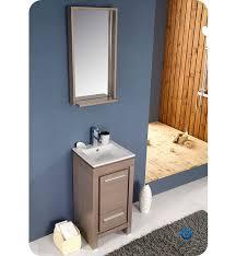 Small Modern Bathroom Vanity 16 Fresca Allier Gray Oak Fvn8118go Small Modern Bathroom