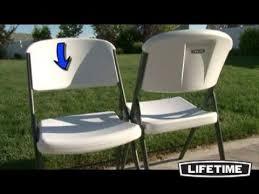 Lifetime Folding Chairs Lifetime Chairs U0026 Chair Cart Youtube