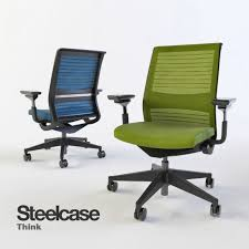 3d models office furniture steelcase think swivel office chair
