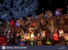 christmas decorations at a residence marin county california