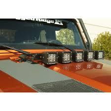 Led Vehicle Light Bar by Rugged Ridge 11232 05 Hood Light Bar Kit 5 Cube Led Lights 07 15