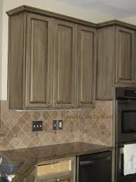 How To Paint And Glaze Kitchen Cabinets Kitchen Kitchen Superb White Glazed Cabinets And Grey L With