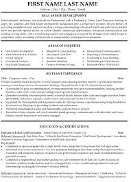 Relevant Experience Resume Examples by Top Real Estate Resume Templates U0026 Samples