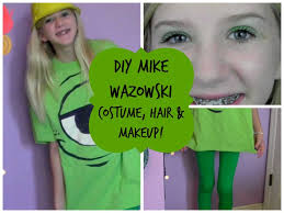 diy mike wazowski costume hair u0026 makeup youtube
