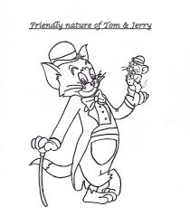 tom u0026 jerry friends coloring page for kids