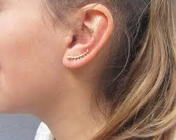 ear climber earring ear climber earrings etsy