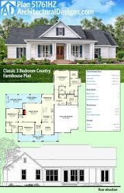 farmhouse plans plan 51761hz classic 3 bed country farmhouse plan architectural