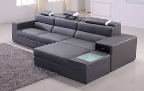Grey Modern Sofa Sectional Sofa Leather Corner Sofas With Genuine Leather Modern