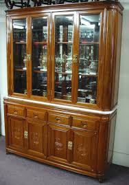 wood and glass cabinet solid rosewood furniture china cabinet oriental chinese style