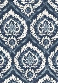 173952 abaza resist indigo by fschumacher fabric