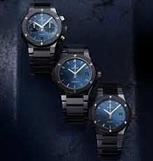blue titanium bracelet hublot images Hublot new classic fusion timepieces with integrated black ceramic jpg