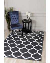 Polypropylene Area Rugs Find The Best Deals On Rugs Moroccan Trellis Charcoal